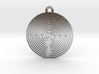 Chartres Labyrinth Pendant 3d printed