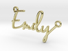 Emily Script First Name Pendant 3d printed