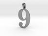 9 Number Pendant 3d printed