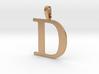 D Letter Pendant 3d printed