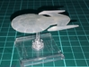 Insignia Class 1/10000 3d printed Attack Wing version printed in Smooth Fine Detail Plastic, mounted on a small Attack Wing base.