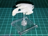 Romulan D'talla Class 1/10000 Attack Wing 3d printed Smooth Fine Detail Plastic , mounted on a small Attack Wing base.