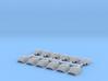Shoulder Pads Curved Sampler 3d printed