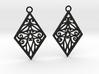 Tiana earrings 3d printed