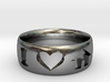 I Heart House Music Ring 3d printed