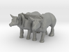 N Scale Oxen 3d printed This is a render not a picture