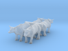 N Scale Oxen Set 3d printed This is a render not a picture