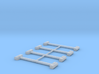 Residential Mailbox - Square Post (8 ea.) 3d printed Part # MB-003