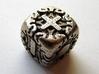 Fudge Art Nouveau d6 3d printed In stainless steel