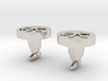 Confucianism Cuff Links - Round 3d printed