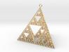 Sierpinski Tetrahedron earring with 64mm side 3d printed