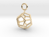 Simple Dodecahedron earring 3d printed