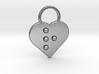 """r"" Braille Heart 3d printed"