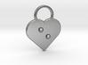 """e"" Braille Heart 3d printed"