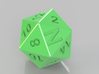 D20 N Custom letter N on 20 face 3d printed