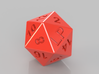 D20 Dice Custom Letter, Choose Letters you want! 3d printed