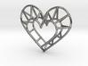 Minimalist Heart Pendant 3d printed