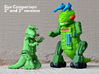 "Ampzilla, 3"" Version  3d printed 2"" and 3"" versions compared."