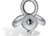 Single Pearl Flower Style Pendant 3d printed