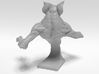 Deamon Bat Bust 3d printed Back render of 3d model