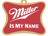 Miller Dog Tag Lettering 3d printed The assembled product (rendering)