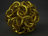 Interwoven Dodecahedron Starball 3d printed