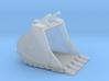 "1:50 60"" bucket+spade teeth for Cat 336D/E 3d printed"