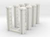 Block Wall - 90 deg Jointed Corner Columns 3d printed Part # BWJ-016