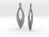 Mandorla Warrior Earrings 3d printed