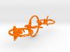 voronoi three yoga poses earring pendant 3d printed