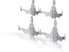 Bird Of Prey BattleCruiser & Cruiser BattlGroup 3d printed