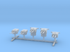 1/1250 IJN Type 50 year 3 turrets (8in) 1944 Set 3d printed