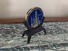 Challenge Coin Stand - 1.75IN - Plastic 3d printed