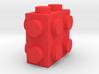 Custom LEGO-inspired brick 2x1x2 3d printed