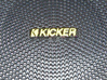 Kicker Logo For Speaker Cover 3d printed Painted and installed