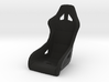 1/6 scale racing seat & mounts 3d printed