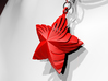 Tortuous Star Pendant 3d printed Red Strong & Flexible Polished
