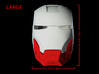 Iron Man Helmet - Jaw (Large) 4 of 4 3d printed CG Render (Front Measurements.  Jaw with full helmet)