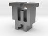 """W"" inch size NES style pixel art font block 3d printed"