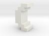 """()"" inch size NES style pixel art font block 3d printed"
