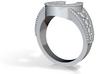Blingy Horseshoe Ring  3d printed