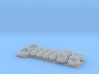 P boat curved superstructure porthole set 1/48 3d printed