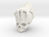 Hand holding a skull 3d printed