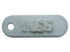 INES Personalized keychain embossed letters 3d printed