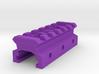 Nerf Rail to Picatinny Rail Adapter (6 Slots) 3d printed