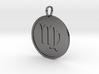 Virgo Medallion 3d printed