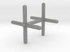 Cross Cufflink 3d printed