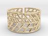 Mesh Grid Ring V2: Size 6-7 3d printed