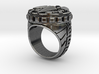 Black Crow Ring - Size 12 - no gems 3d printed