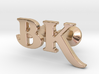 Monogram Cufflinks B & K 3d printed